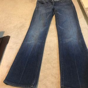 7 for all man kind blue jeans.